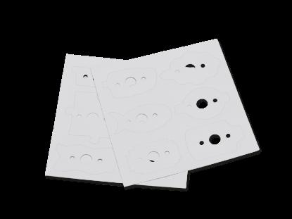 Image de Jeu de 2 cartes gabarits prédécoupés