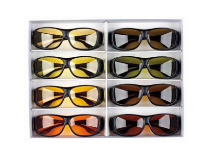 Image de Coffret d'essai de 8 sur-lunettes PROSHIELD (1 de chaque)