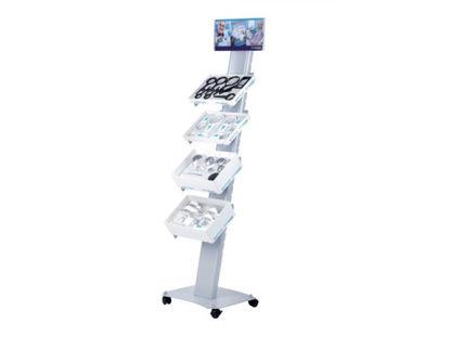 Image de Présentoir à roulettes Schweizer avec supports pour plateaux de loupes
