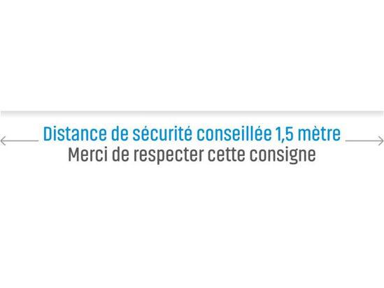 Image de Adhésifs sol distance de sécurité (lot de 2)