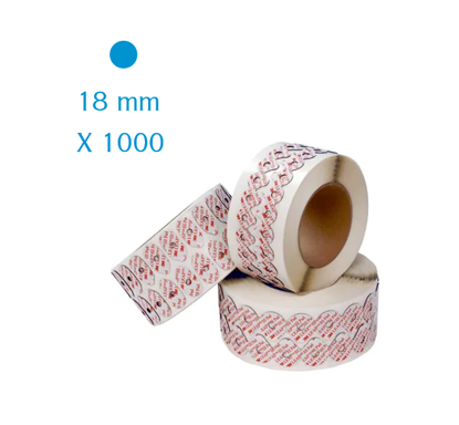 Pastilles adhésives 3M LEAP III rondes 18 mm (lot de 1000)