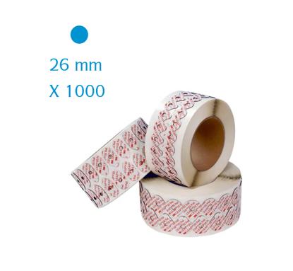 Pastilles adhésives 3M LEAP III rondes 26 mm (x1000)