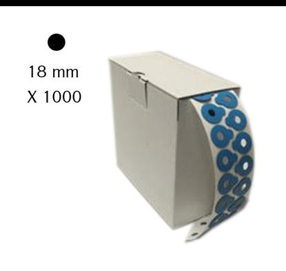 Pastilles adhésives génériques rondes 18 mm (x1000)