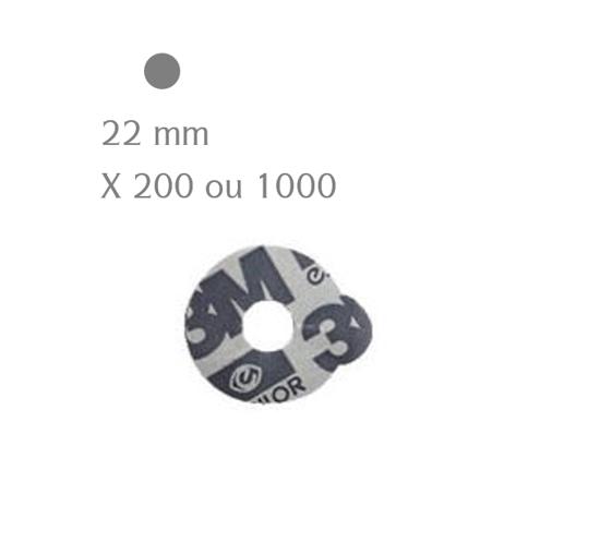 Pastilles adhésives 3M ESSILOR rondes 22 mm (x200 ou 1000)