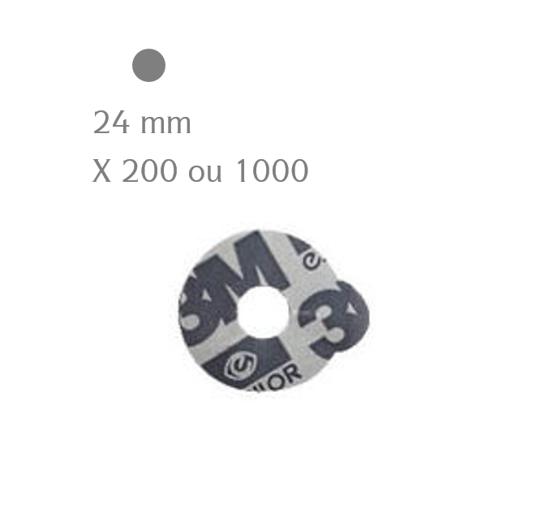 Pastilles adhésives 3M ESSILOR rondes 24 mm (x200 ou 1000)